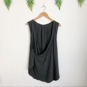 Free People Tops - Free People / We the Free • Gray Nocturnal Tank